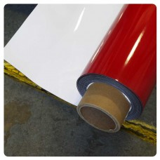 0.5mm x 1000mm white gloss dry wipe surface with 1mm foam backed adhesive