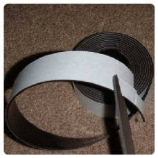 25.4mm x 25mm Economy grade acrylic adhesive magnetic tape - 50 pieces