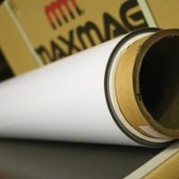 0.85mm x 620mm White Gloss magnetic material (42g/cm²)